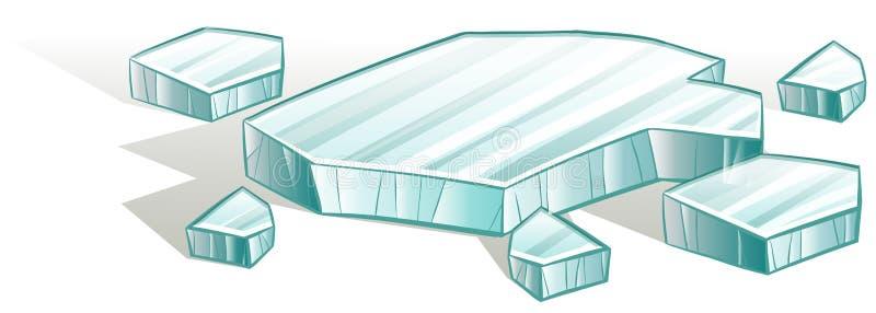 Broken icecubes royalty free illustration