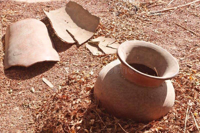 Broken jug stock image