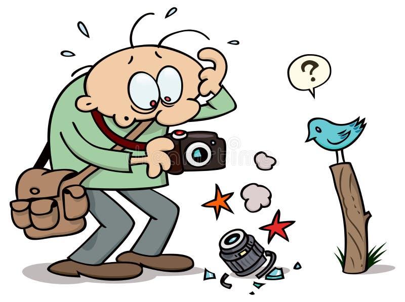broken kamera vektor illustrationer