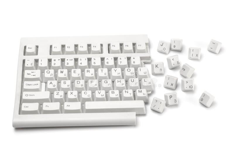 Broken keyboard #1 royalty free stock photography