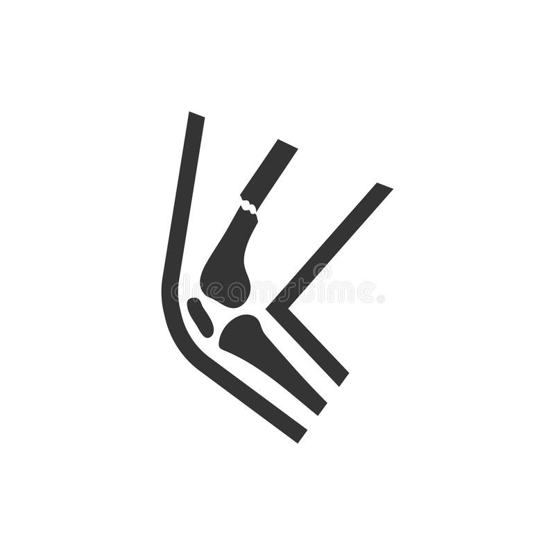 Broken Leg Icon. Beautiful, meticulously designed Broken Leg Icon. Perfect for use in designing and developing websites, printed materials and presentations royalty free illustration