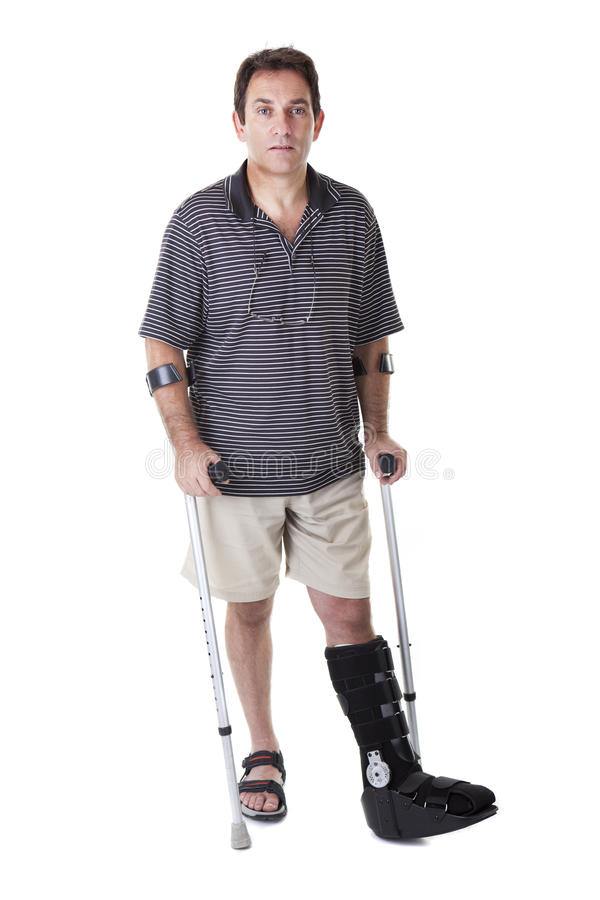 Broken legs royalty free stock photos