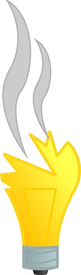 Broken light bulb vector illustration. Vector illustration of a broken light bulb stock illustration