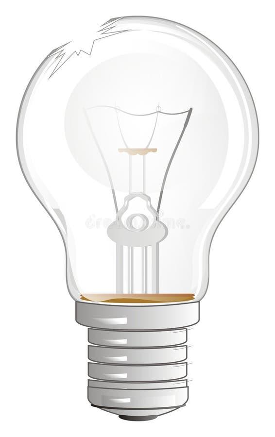 Broken light bulb. On a white background royalty free illustration