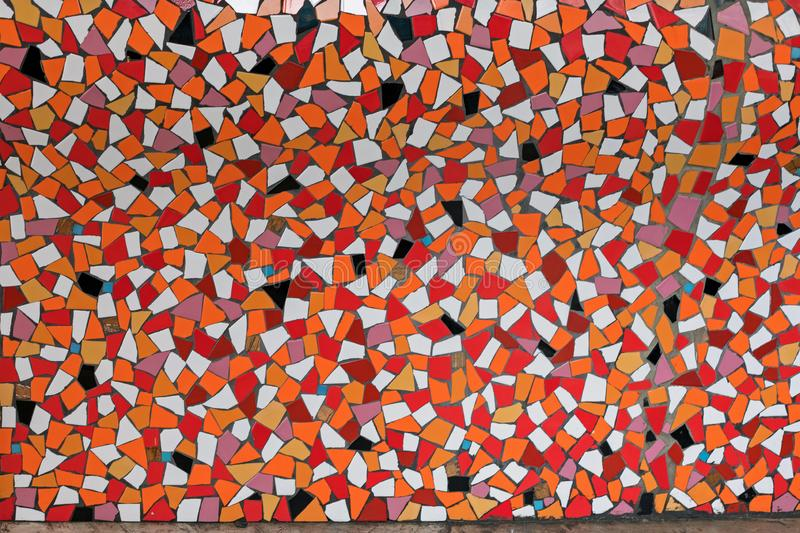 Broken Marble Wall. Modern Wall Made From Broken Marble Stone Pieces stock photo
