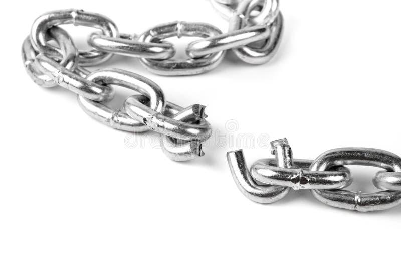 Broken metal chain stock photo