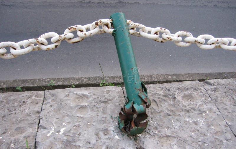 broken metal fence stock images