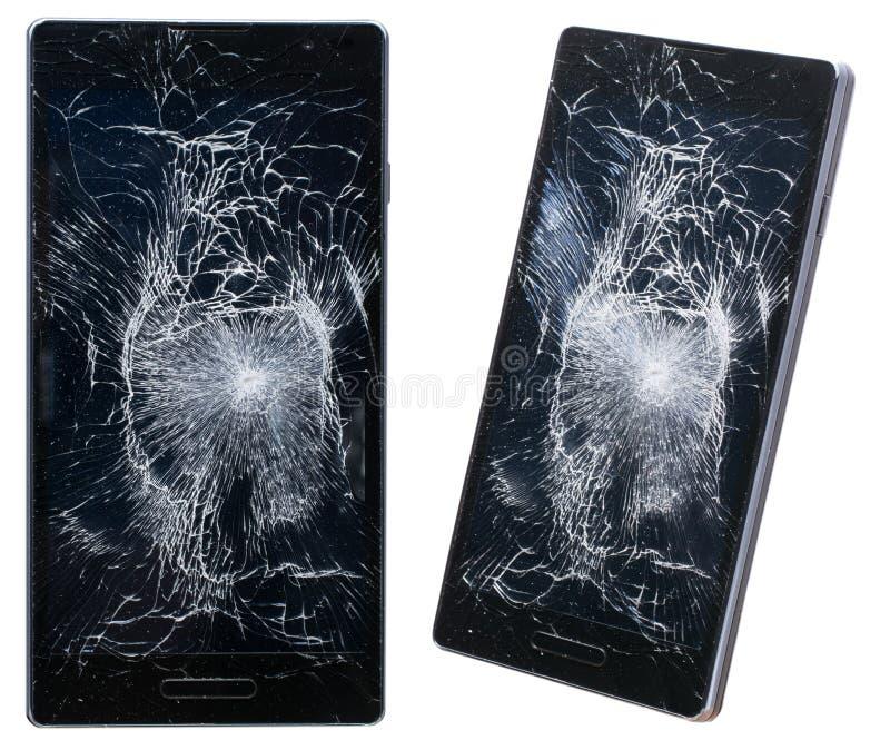 broken mobil telefon royaltyfri bild