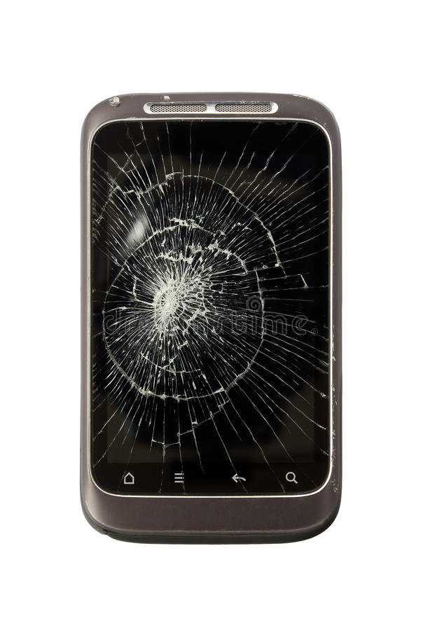 Broken Mobile Phone stock photography