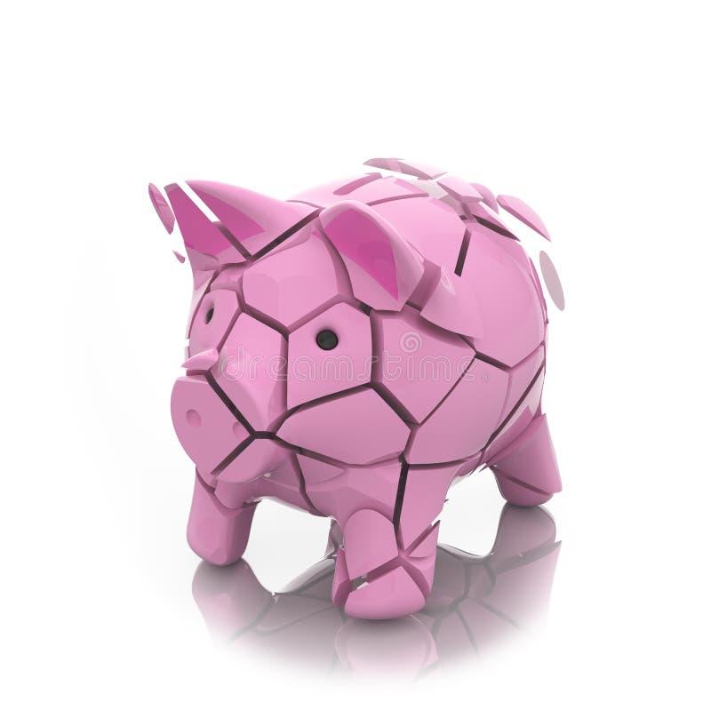 Download Broken Moneybox Piggy Royalty Free Stock Image - Image: 32261226