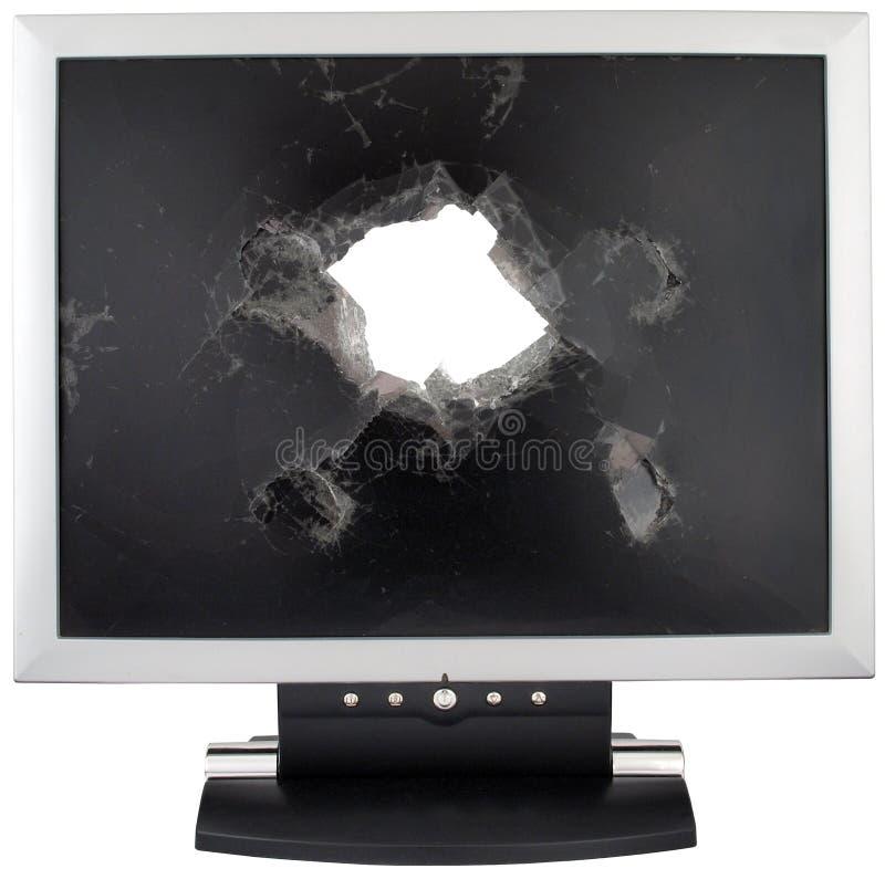 Broken monitor royalty free stock photos