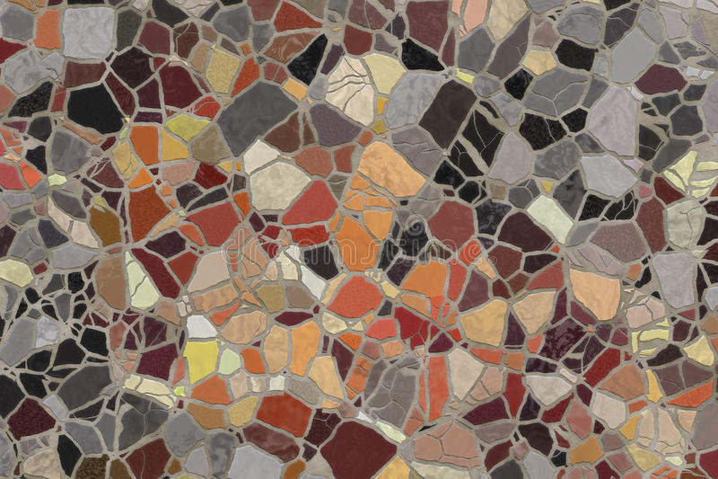 Broken mosaic tiles. royalty free stock photos