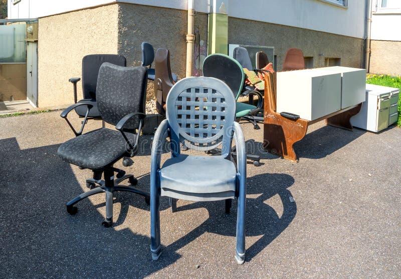 Broken office furniture royalty free stock image