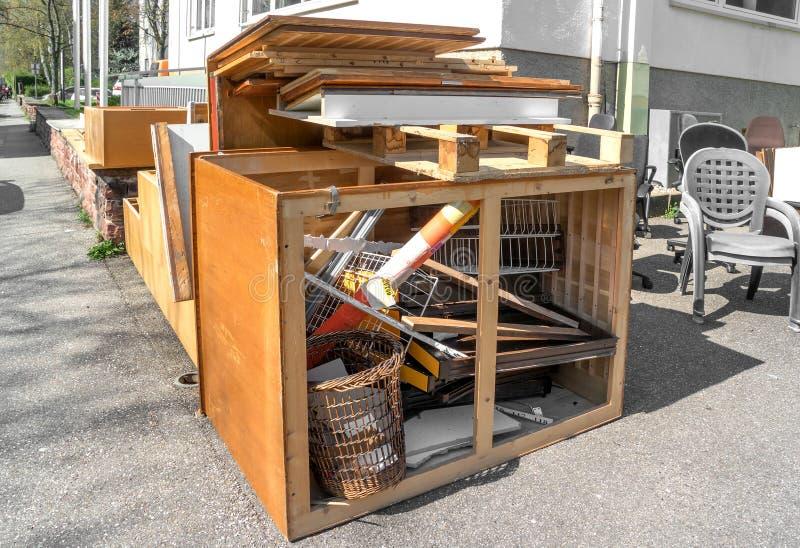 Broken office furniture stock photography