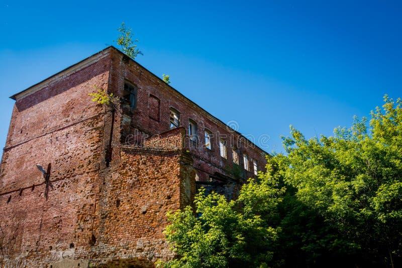 Broken old brick building stock images