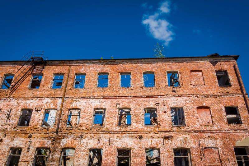 Broken old brick building royalty free stock photos