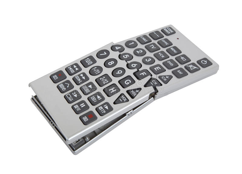Broken old remote control tv stock images