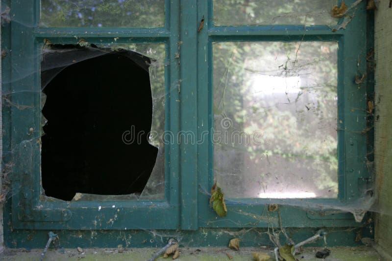 Broken pane stock photo