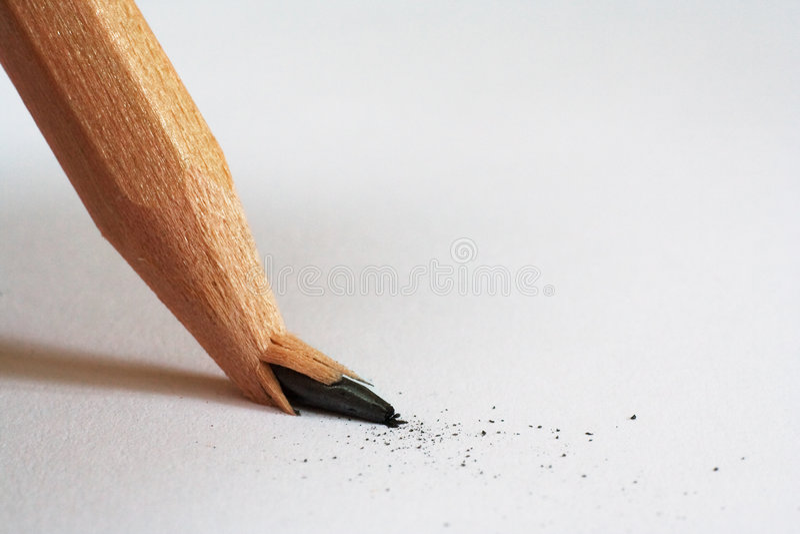 Broken Pencil stock images