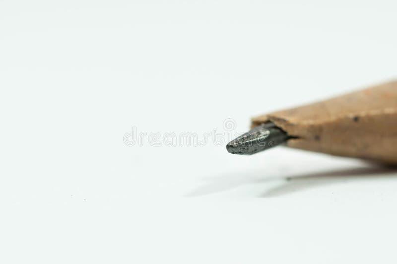 Broken pencil close up macro shot royalty free stock images
