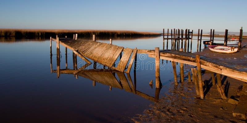 Broken pier stock photos