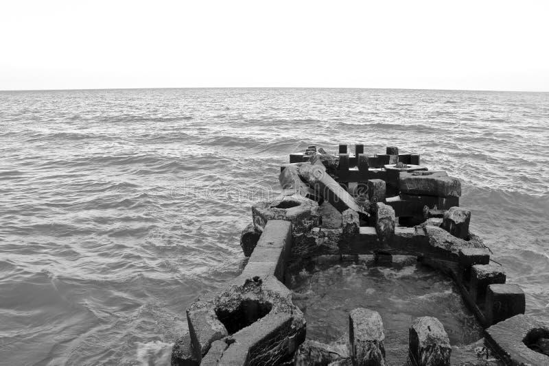 Broken pier stock image