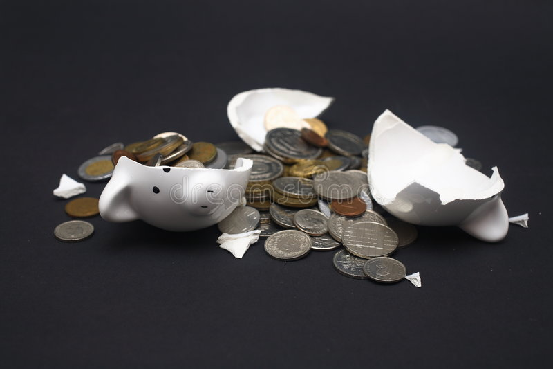 Download Broken Piggy Bank stock photo. Image of smash, break, safe - 5457286