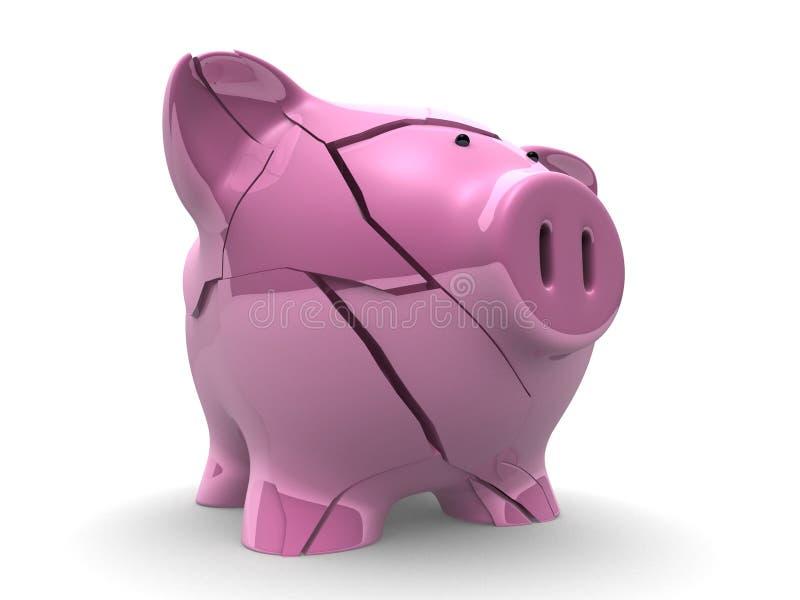 Broken Piggy Bank Stock Images