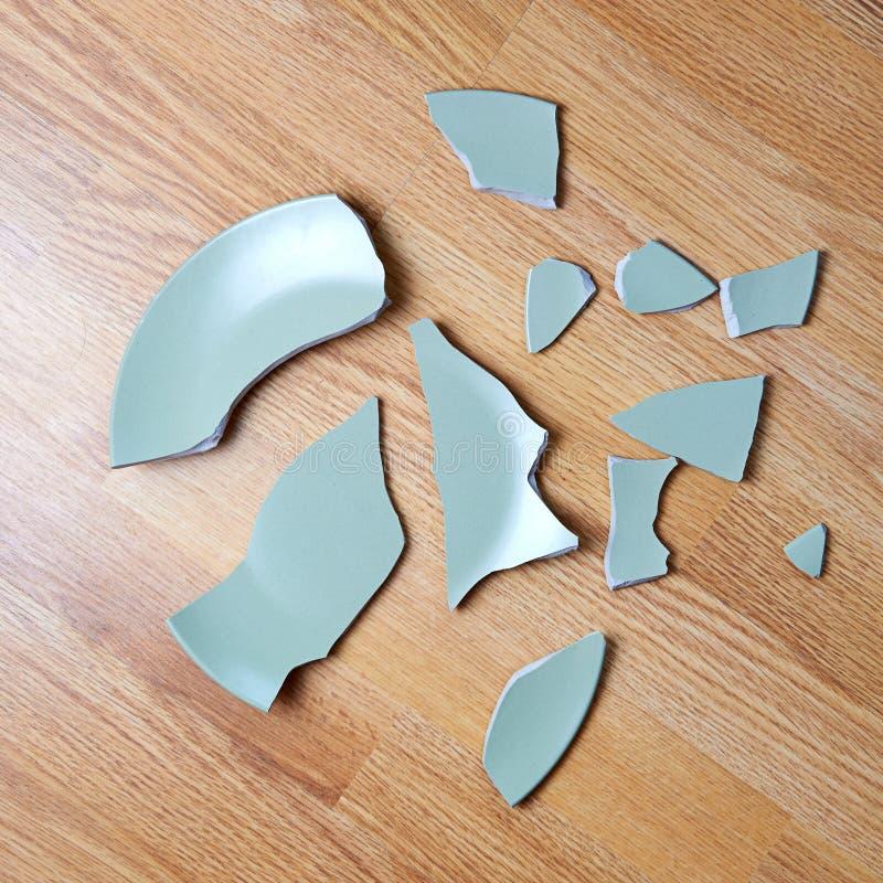 Broken plate stock image