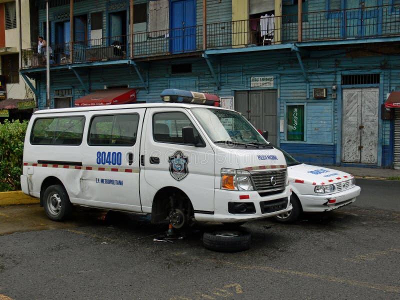 Download Broken Police Car In Panama Editorial Photo - Image: 39771516