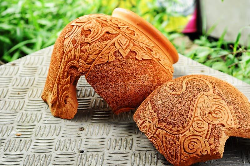 Broken pottery stock image