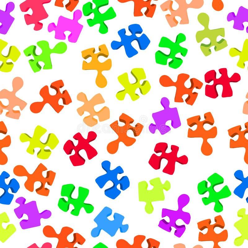 Download Broken puzzle pattern stock vector. Image of color, green - 28799813