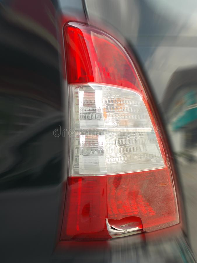 Broken Rear Lamp Zoomed-In stock photography