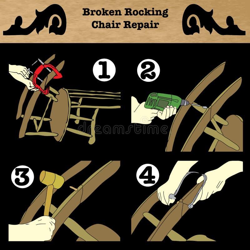 Broken Rocking Chair Repair Stock Photography
