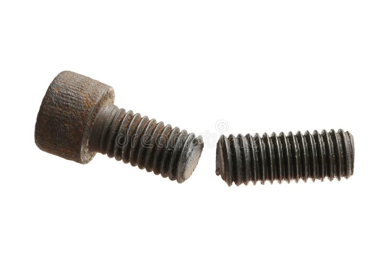 Broken screw concept danger stock photos