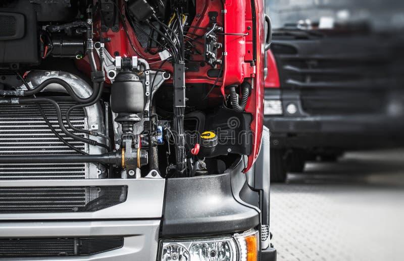 Broken Semi Truck Service stock image