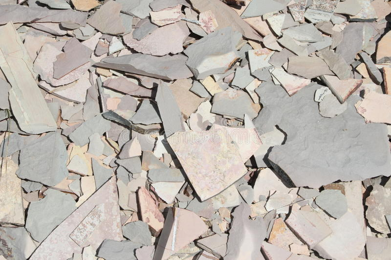 Broken shale rock pile of natural stone royalty free stock photography