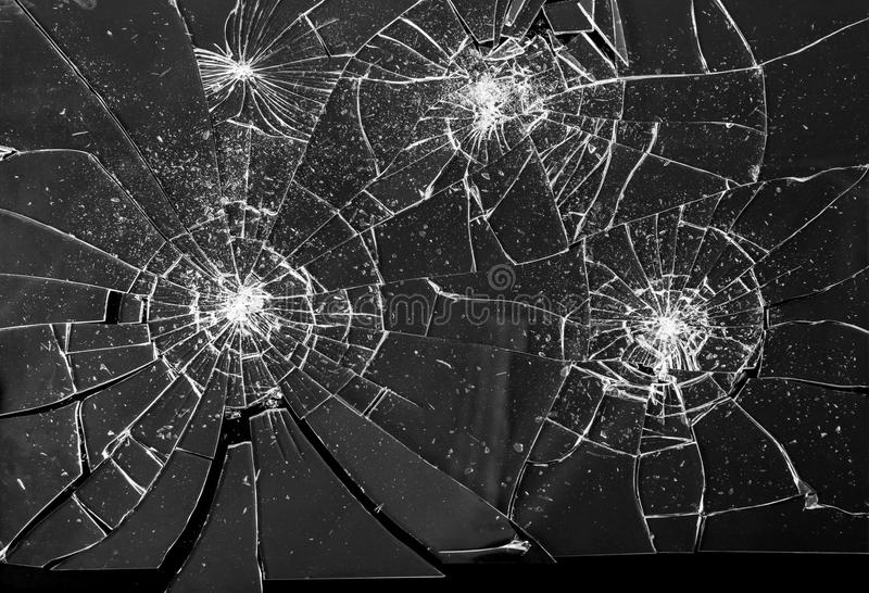 Broken Shattered Glass Shards Background stock image