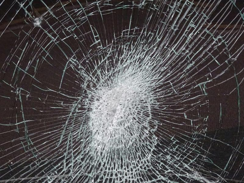 Broken And Shattered Shop Window royalty free stock images