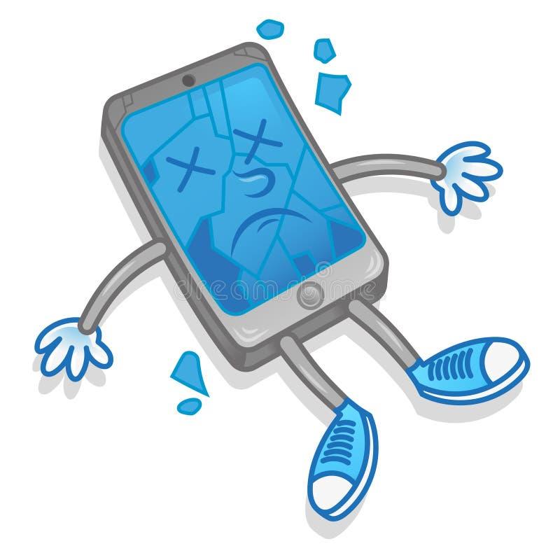 broken smartphone stock illustrationer