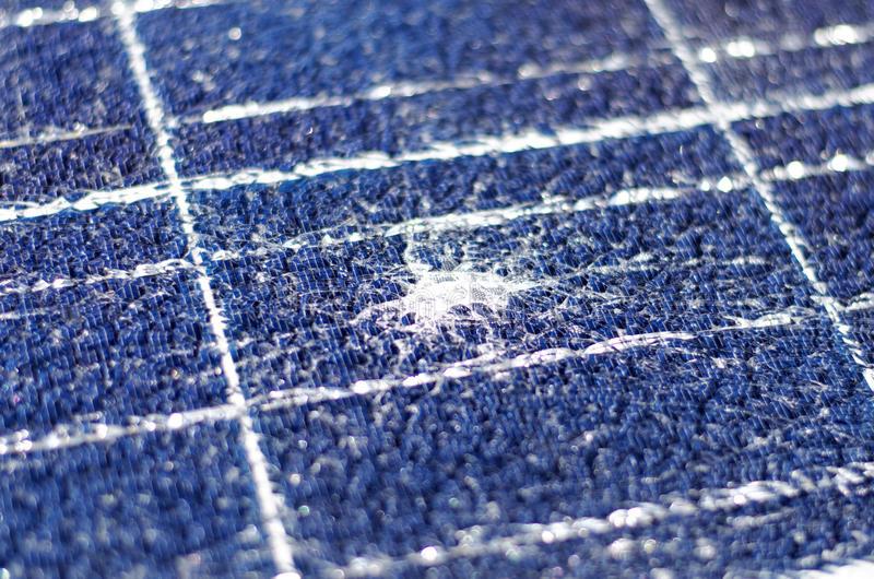 Broken Solar Panel Stock Image Image Of Collector