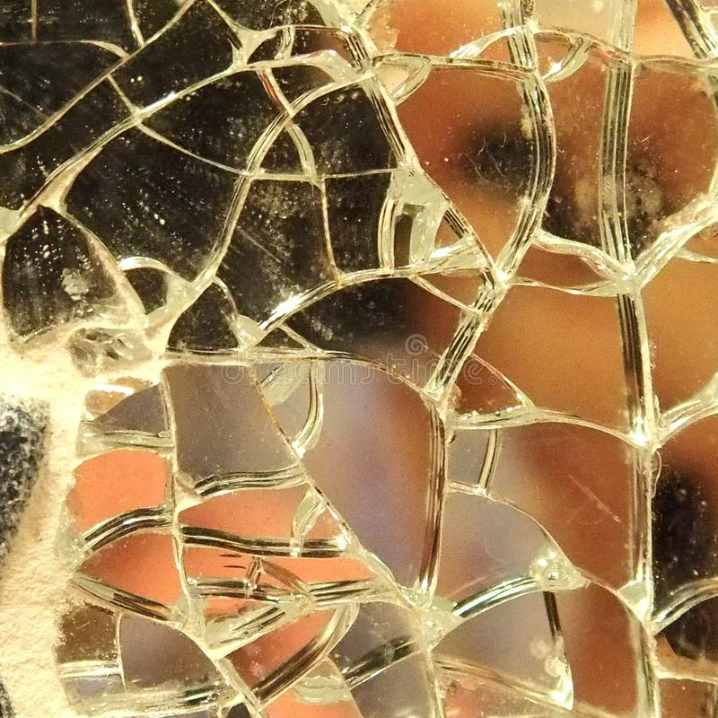 broken spegel royaltyfria foton