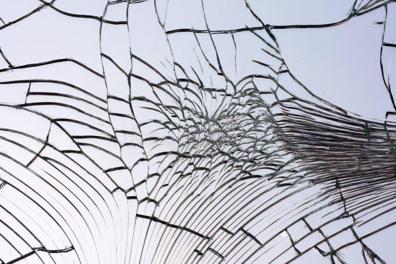 Broken splittrad spegel royaltyfria bilder