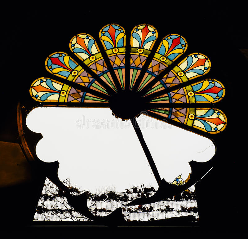 Free Broken Stained Glass Window - Abandoned Church Royalty Free Stock Photo - 98549085