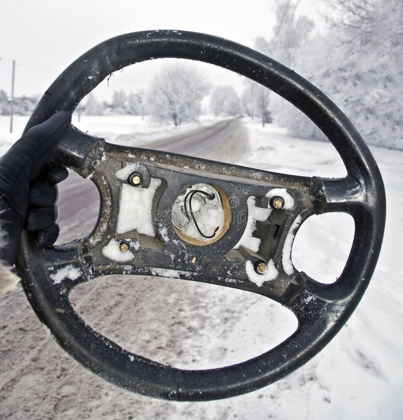 Broken Steering Wheel royalty free stock images