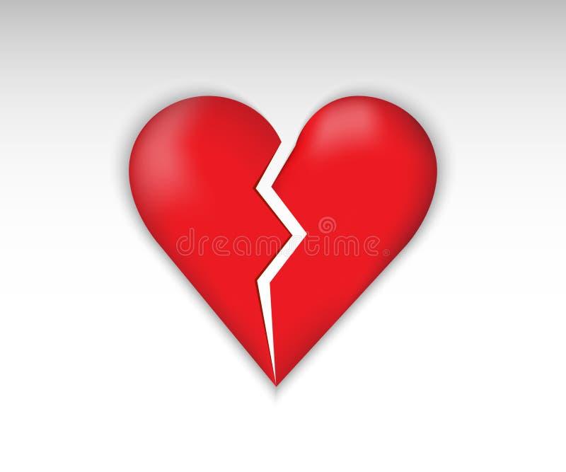 Broken symbol love. Broken heart vector. Heart Icon. Broken symbol love royalty free illustration