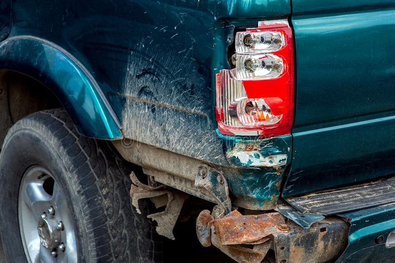The broken taillight close up. royalty free stock photo