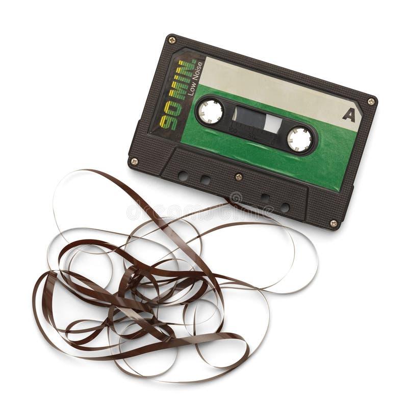 Broken Tape Cassette royalty free stock photos