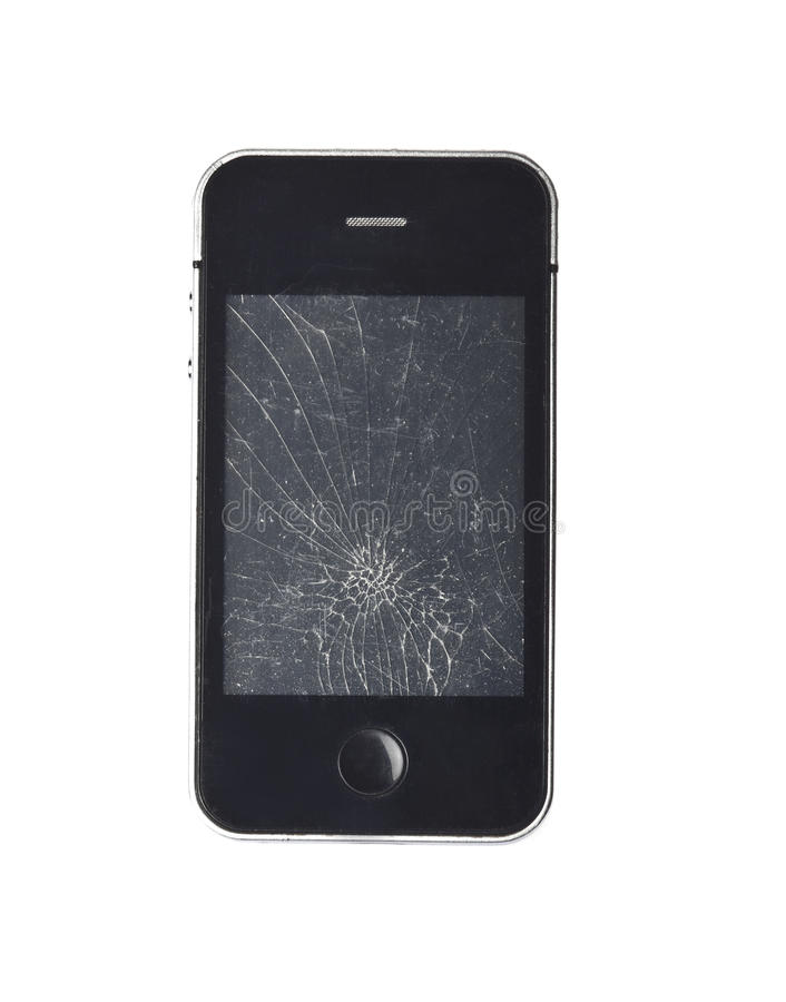 broken telefon royaltyfri bild