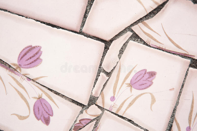 Broken tile royalty free stock photography
